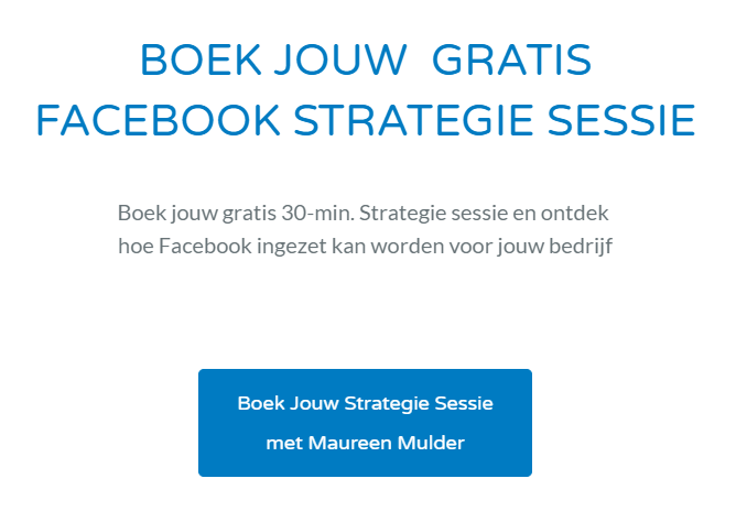 Boek hier jouw Facebook Strategiesessie