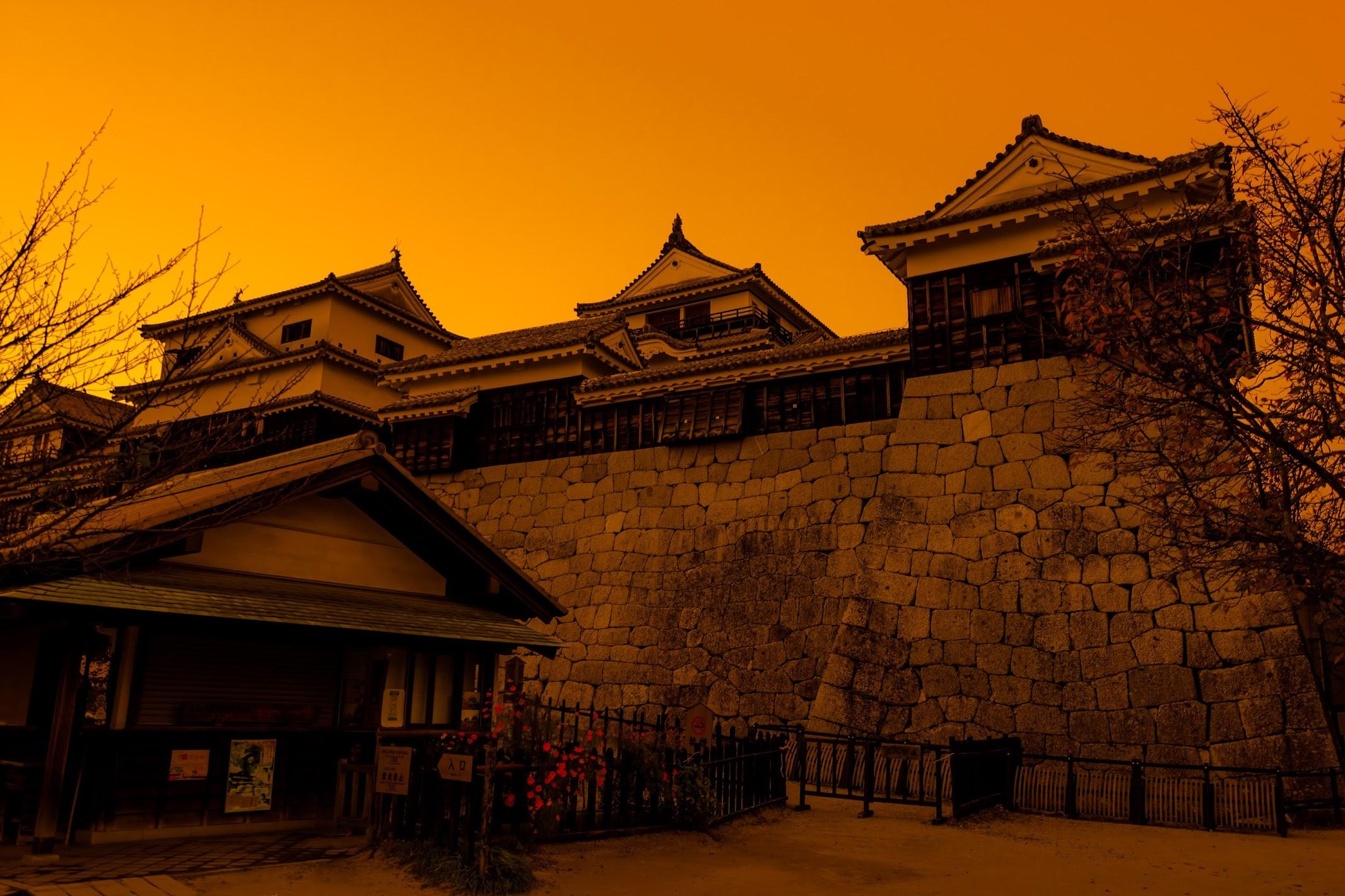 松山城 夕景4