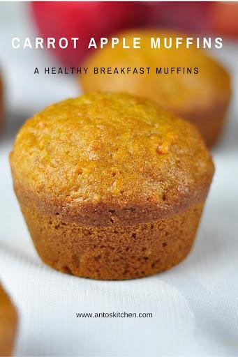 carrot apple muffins recipe