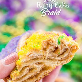 Quick King Cake Braid.