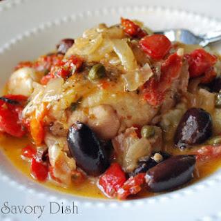 Greek Chicken Stew with Cauliflower Rice