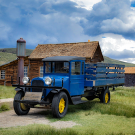 Classic Truck by Shirley Prothero - Transportation Automobiles ( skies, trucks )