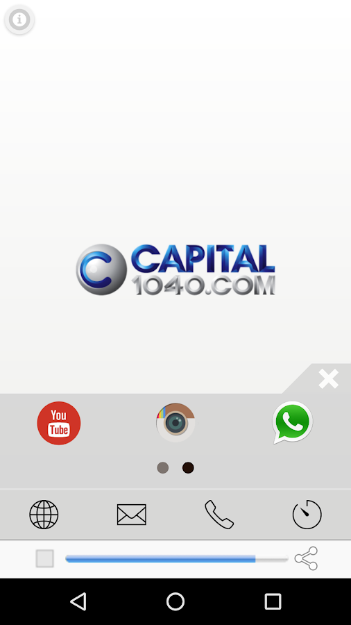 Rádio Capital: captura de tela