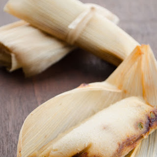 Vegan Potato Adobo Tamales.