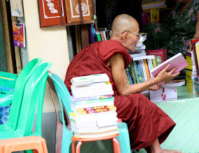 Photo: Year 2 Day 54 - Monk Busy Reading in the Temple