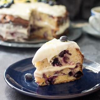 Blueberry Zucchini Lemon Cake.