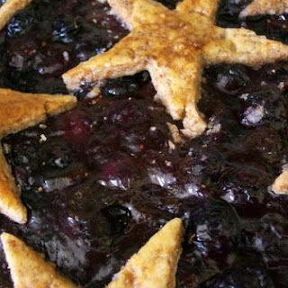 Honeyed Date Blueberry Pie