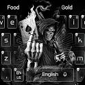 Dark Flame Devil skull gun Theme Keyboard icon