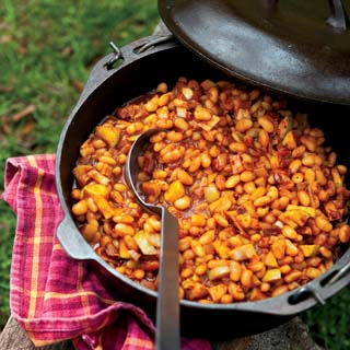 Maple Apple Baked Beans