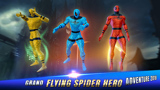 Flying Spider Hero Adventure Fight 2018 1.9 screenshots 3
