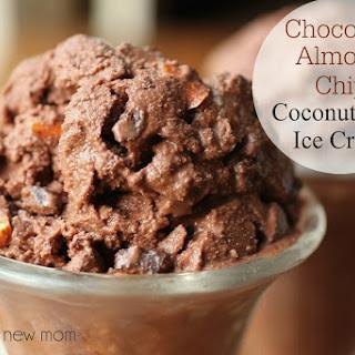 Chocolate Almond Chip Coconut Milk Ice Cream (sugar-free option)