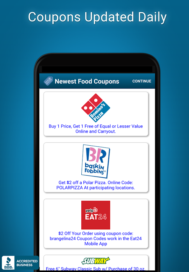 Fast Food Specials & Coupons- screenshot