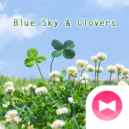 Cute Wallpaper Blue Sky & Clovers Theme Icon
