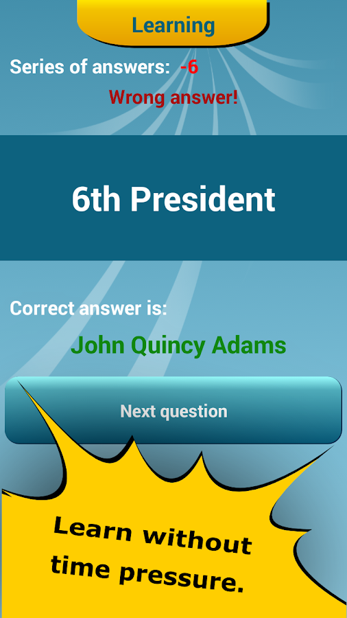 US Presidents Quiz- screenshot