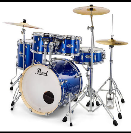 Pearl Export 10/12/14/20-set High Voltage Blue + Sabian SBR Cymbalpack!