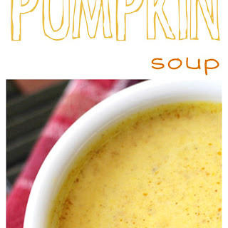 Simple Savory Pumpkin Soup.