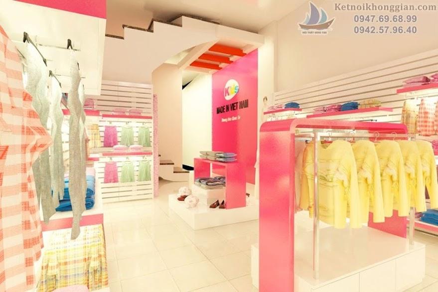 thiết kế shop thời trang trẻ em chất lượng cao và đẳng cấp