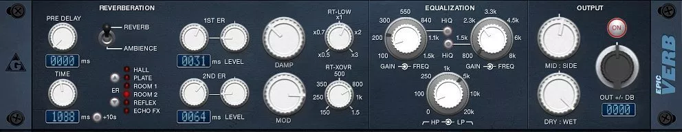 EpicVerb audio plugin free