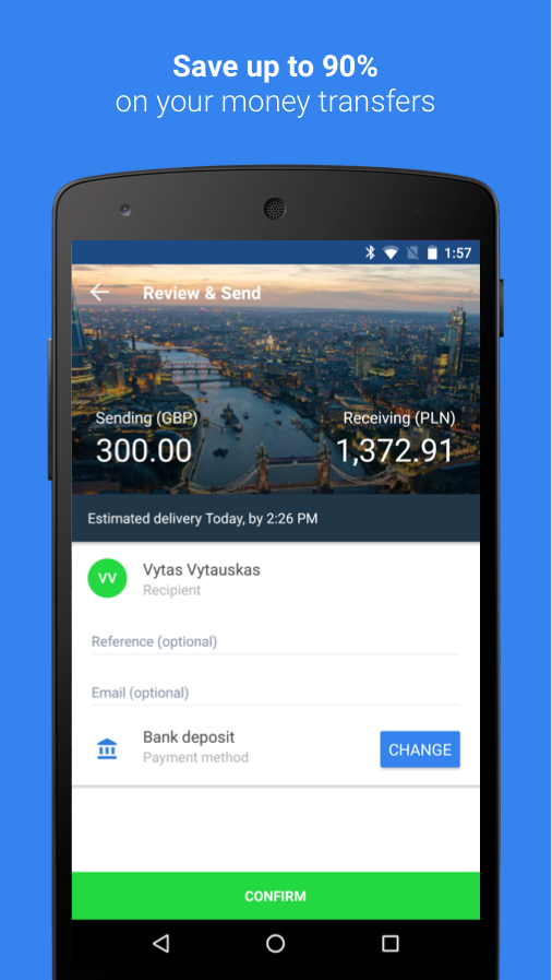 TransferGo: Money Transfer- screenshot