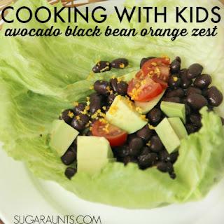 Avocado Black Bean Lettuce Wrap with Orange Zest.