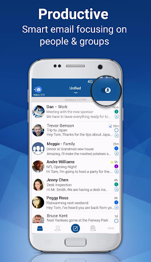 Blue Mail - Email & Calendar App - Mailbox screenshot