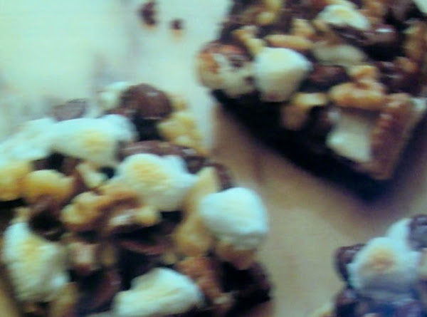 Snow On The  Rocky Road Black Walnut Brownies Recipe
