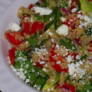 Fresh Greek Quinoa and Avocado Salad