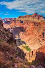Photo: View of the Colorado River, South Kaibab Trail down the South Rim of Grand Canyon National Park, Arizona, USA