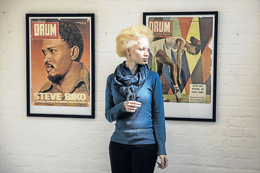 OURAGEOUS: Thando Hopa, a lawyer and part-time model, who was the cover-girl of the first Forbes Life Africa Picture: AFP