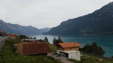 Photo: A kifli alakú tó látképe félúton