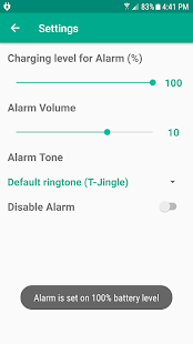 Charge Alarm - náhled