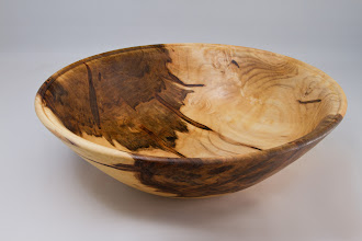 "Photo: GARY NICKERSON – 13.75"" x 4"" –Rimmed Bowl [Ambrosia Maple]"