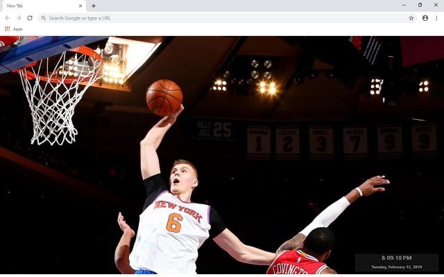 Kristaps Porzingis NBA New Tab Theme