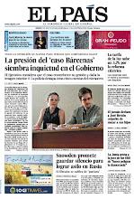 Photo: En la portada de EL PAÍS: La presión del 'caso Bárcenas' siembra inquietud en el Gobierno; Snowden promete guardar silencio para lograr asilo en Rusia; Andy Murray, la nueva joya de la corona http://cort.as/4gat