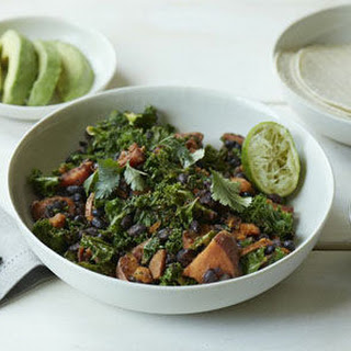 Sweet Potato, Black Bean & Kale Skillet