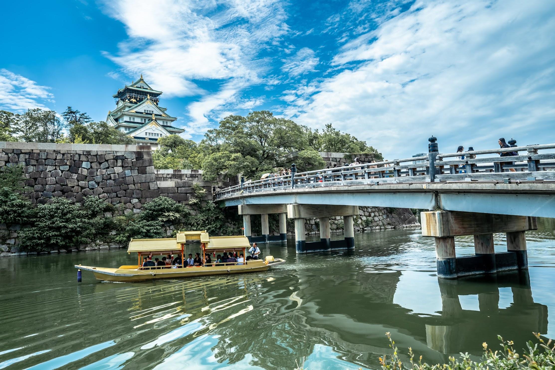 Osaka Castle Gokuraku Bridge Gozabune (御座船)2