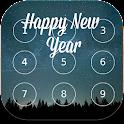 Happy New Year password Lock icon