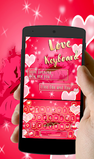 Sweet Neon love Red Kiss Keyboard theme - náhled