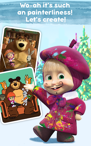 Masha and the Bear: Free Coloring Pages for Kids 1.0.3 screenshots 11