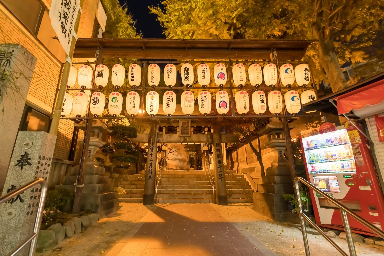 福岡 櫛田神社 夜1