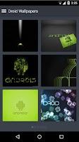 Screenshot of Droid Wallpapers