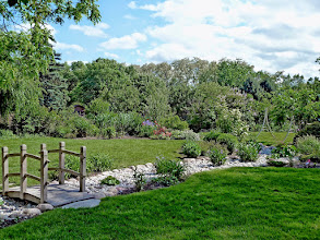 Photo: Dry creeks can be used to hold and infiltrate rainwater and channel flooding through the landscape in an ornamental way. Challenges in the garden should ALWAYS be dealt with in an ornamental fashion.