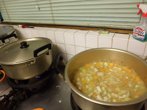 Photo: 区民館には広い調理場がありました♪