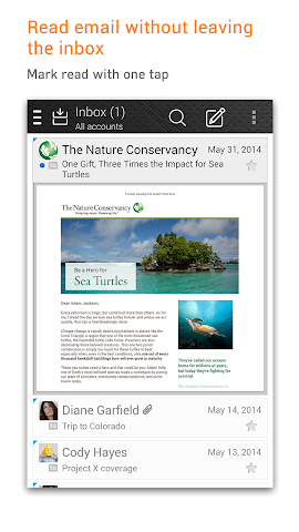 android Fluent Mail Screenshot 1