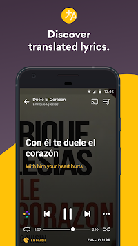 Musixmatch Lyrics Music Player APK screenshot thumbnail 3