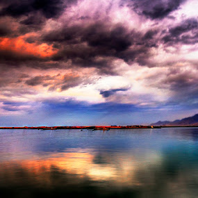 Dramatic Clouds by Avi Chatterjee - Landscapes Cloud Formations ( clouds, hdr, weather, lake, rain )