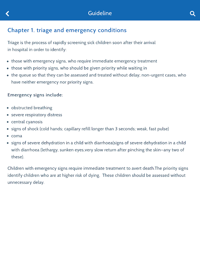 WHO Hospital Care for Children- screenshot