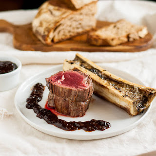 Beef Tenderloin With Roasted Marrow Bones
