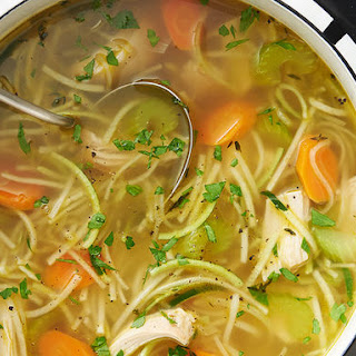 Chicken Zoodle Soup.
