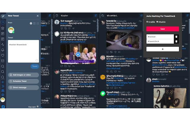 Auto Hashtag For TweetDeck